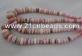 CRB1106 15.5 inches 5*8mm - 9*18mm rondelle pink opal beads