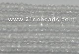 CRB112 15.5 inches 2.5*4mm faceted rondelle white crystal beads