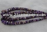 CRB1122 15.5 inches 5*8mm - 9*18mm faceted rondelle dogtooth amethyst beads