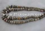 CRB1129 15.5 inch 5*8mm - 9*18mm faceted rondelle chrysanthemum agate beads
