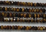 CRB116 15.5 inches 3*5mm faceted rondelle yellow tiger eye beads