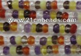 CRB120 15.5 inches 3*5mm faceted rondelle mixed quartz beads