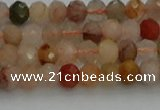 CRB1214 15.5 inches 4*6mm faceted rondelle mixed rutilated quartz beads