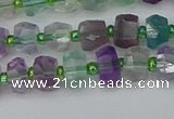 CRB1287 15.5 inches 5*8mm faceted rondelle fluorite beads