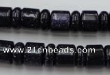 CRB132 15.5 inches 6*12mm & 10*12mm rondelle blue goldstone beads