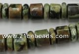 CRB138 15.5 inches 6*12mm & 10*12mm rondelle rhyolite gemstone beads