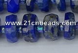 CRB1395 15.5 inches 8*18mm faceted rondelle lapis lazuli beads