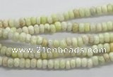 CRB14 15.5 inches 2*4mm rondelle lemon jade gemstone beads