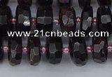 CRB1411 15.5 inches 6*10mm faceted rondelle red garnet beads