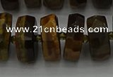 CRB1434 15.5 inches 8*16mm faceted rondelle yellow tiger eye beads