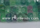 CRB1463 15.5 inches 4*6mm faceted rondelle fluorite beads