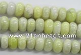 CRB16 15.5 inches 6*10mm rondelle lemon jade gemstone beads