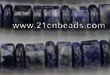 CRB161 15.5 inches 5*14mm & 10*14mm rondelle sodalite gemstone beads