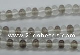 CRB17 15.5 inches 4*6mm rondelle white crystal & smoky quartz beads