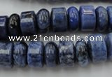 CRB177 15.5 inches 4*12mm – 8*12mm rondelle blue dumortierite beads