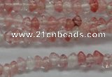 CRB18 15.5 inches 2*4mm rondelle cherry quartz gemstone beads
