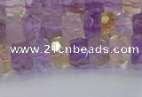 CRB1807 15.5 inches 4*6mm faceted rondelle ametrine beads