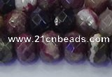 CRB1834 15.5 inches 6*10mm faceted rondelle tourmaline beads