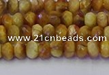 CRB1836 15.5 inches 4*6mm faceted rondelle golden tiger eye beads