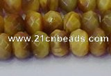 CRB1838 15.5 inches 6*10mm faceted rondelle golden tiger eye beads