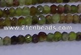 CRB1918 15.5 inches 2*3mm faceted rondelle green garnet beads