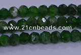 CRB1921 15.5 inches 2*3mm faceted rondelle diopside beads