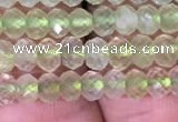 CRB1952 15.5 inches 3*4mm faceted rondelle prehnite gemstone beads