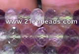 CRB1959 15.5 inches 4*6mm faceted rondelle fluorite gemstone beads