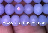 CRB1983 15.5 inches 4*6mm faceted rondelle blue angel skin gemstone beads