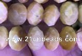 CRB1993 15.5 inches 6*8mm faceted rondelle golden tiger eye beads