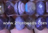 CRB1995 15.5 inches 5*8mm faceted rondelle Botswana agate beads