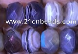 CRB1996 15.5 inches 7*10mm faceted rondelle Botswana agate beads