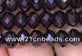 CRB1998 15.5 inches 4*6mm faceted rondelle black spinel beads