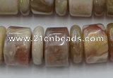 CRB205 15.5 inches 6*18mm - 13*18mm rondelle yellow agate beads