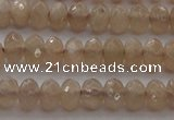CRB210 15.5 inches 3*4mm faceted rondelle moonstone beads