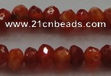 CRB216 15.5 inches 3*4mm faceted rondelle fire agate beads