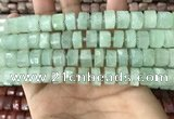 CRB2165 15.5 inches 8mm - 9mm faceted tyre light prehnite beads