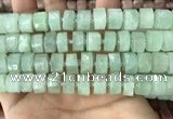 CRB2167 15.5 inches 12mm - 13mm faceted tyre light prehnite beads