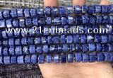 CRB2175 15.5 inches 9mm - 10mm faceted tyre sodalite beads