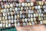CRB2180 15.5 inches 9mm - 10mm faceted tyre crazy lace agate beads