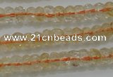CRB221 15.5 inches 2.5*4mm faceted rondelle citrine gemstone beads