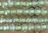 CRB2227 15.5 inches 2*3mm faceted rondelle prehnite beads