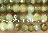 CRB2238 15.5 inches 2*3mm faceted rondelle green garnet beads