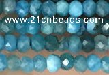 CRB2245 15.5 inches 2*3mm faceted rondelle apatite beads