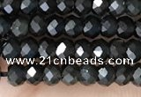 CRB2246 15.5 inches 2*3mm faceted rondelle obsidian beads