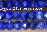 CRB2262 15.5 inches 3*4mm faceted rondelle blue kyanite beads