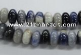CRB23 15.5 inches 6*10mm rondelle sodalite gemstone beads
