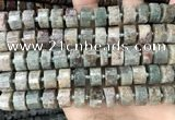 CRB2303 15.5 inches 11mm - 12mm faceted tyre ghost gemstone beads
