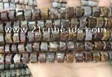 CRB2305 15.5 inches 7mm - 8mm faceted tyre pietersite beads