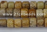 CRB2504 15.5 inches 6*8mm rondelle picture jasper beads